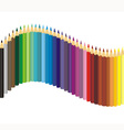 Set of color crayons vector image vector image