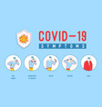 sick people with covid-19 banner male characters vector image