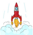 spaceship graphic get off mark vector image