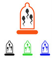 sperm protection flat icon vector image vector image