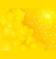 square party yellow background with white dots vector image vector image