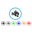 statistics rounded icon vector image vector image