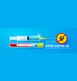 stop coronavirus 2019-ncov coronavirus vaccine vector image vector image