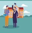 student graduation cartoons vector image