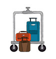 suitcases in hotel vector image
