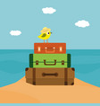 summer time of little bird vector image vector image