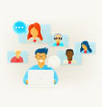 video conference via internet online chat vector image