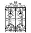 vintage metal gate vector image vector image