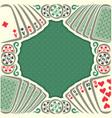 vintage poker table vector image