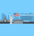 welcome to usa banner horizontal concept vector image vector image