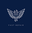 winged spanner vector image