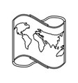 world map symbol vector image vector image