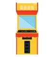 Arcade game machine vector image