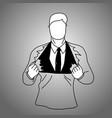 businessman suit inside t-shirt vector image