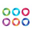 Technology orbit web rings logo vector image