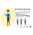 freelance character creation set for animation vector image