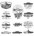 Set of car service labels emblems and logos vector image