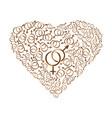 heart consisting of gender symbols vector image