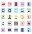household appliances set black icon on vector image