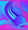 3d gradient fluid geometric elements vector image vector image