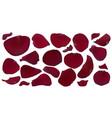 a set of dark red rose petals vector image vector image