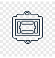 american football scores concept linear icon vector image