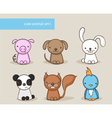 animal set 1 vector image vector image