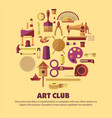 art club craft tools or materials handmade product vector image