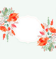 beautiful watercolor flower background with text vector image vector image