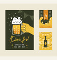 beer festival poster banner placard advertisement vector image