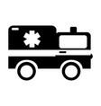 black icon ambulance car cartoon vector image vector image