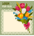 Bouquet of spring flowers vector | Price: 3 Credits (USD $3)