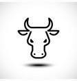 bull head line icon vector image