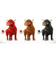 bull ox animal in the chinese zodiac chinese vector image