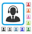call center operator framed icon vector image vector image