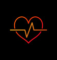 cardiac cycle bright icon heartbeat vector image vector image