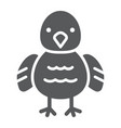 chicken glyph icon animal and bird chick sign vector image vector image