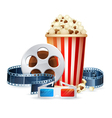 Cinema and movie realistic objects isolated vector image vector image