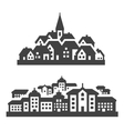 city town icons set signs and symbols vector image vector image