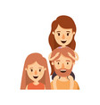 colorful caricature half body family parents with vector image vector image