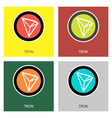 crypto coin icon on isolated white background vector image vector image