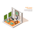 daily man routine composition vector image vector image
