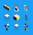 daily routine - colorful isometric icons vector image