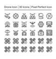 drone line icon vector image vector image