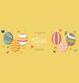 easter egg sale horizontal banner easter card vector image vector image