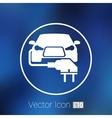 Electric car plug icon eco fuel vector image