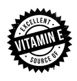 Excellent source of vitamin E stamp vector image vector image