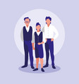 family members together characters vector image