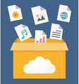 File storage in cloud vector image vector image