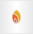 fire logo symbol flame burn icon element vector image vector image